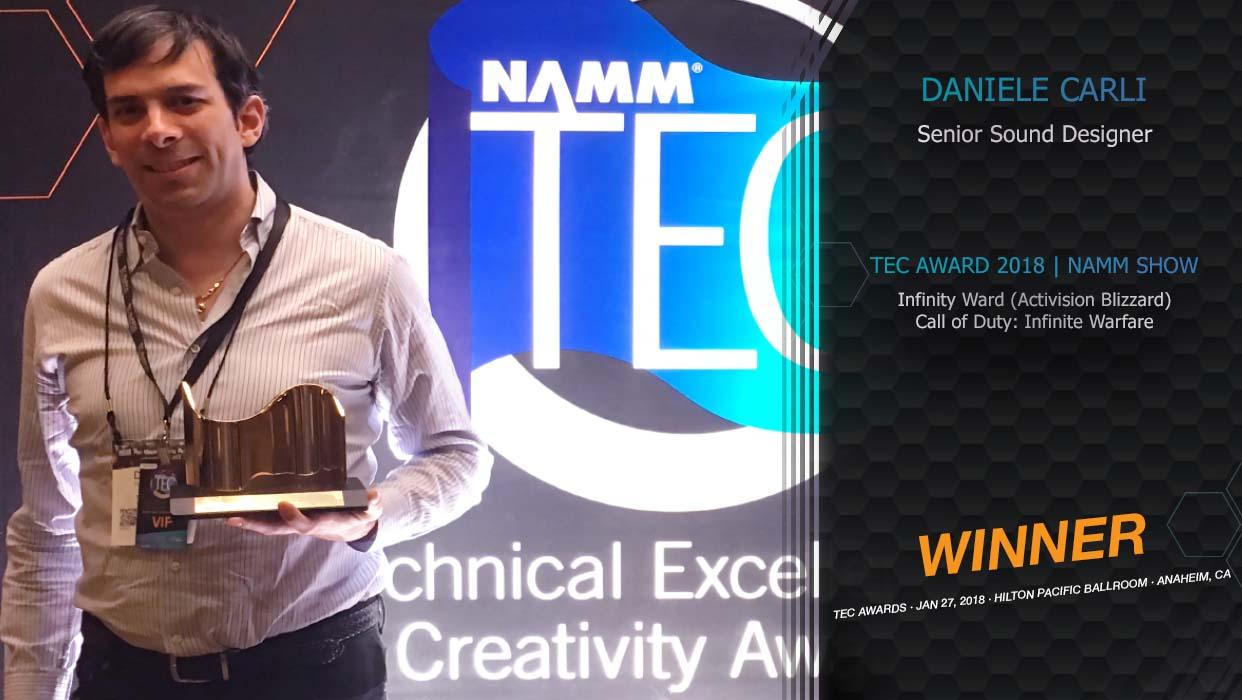 Daniele Carli TEC Award Winner 2018